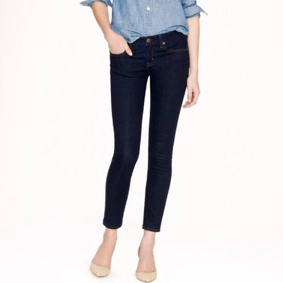 EUC J. Crew Toothpick Skinny Ankle Denim Jeans